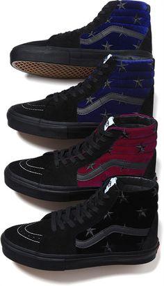 Mens Vans Sk Hi Velvet Skate Shoe