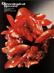 The Mineralogical Record Vol. 27 No. 5 - Wulfenite, Red Cloud mine, La Paz County, Arizona