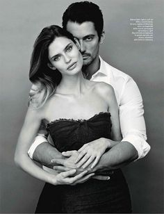 bianca balti & david gandy by giovanni castel for amica (the two most beautiful people..)