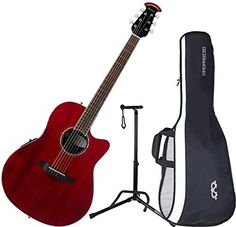 Ovation CS28-RR Celebrity Standard Super Shallow Ruby Red A/E Guitar with Gig Bag and Stand - http://www.celebrity-juice.com/ovation-cs28-rr-celebrity-standard-super-shallow-ruby-red-ae-guitar-with-gig-bag-and-stand/
