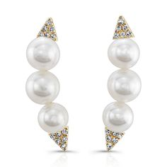 The new classic for #Spring ear climbers from #Majolie. Available in 14kt white, rose and yellow gold | #LibertyDiamonds