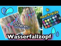 Scheren-Wasserfallzopf plus Haarkreide coole Mädchen Zöpfe&Frisuren - YouTube