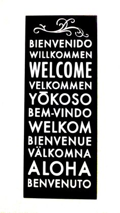 Hello in different languages! This is for my little guy!