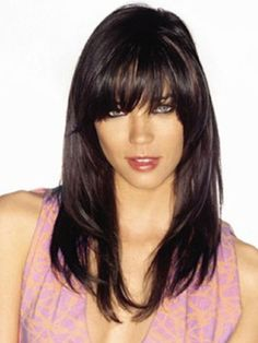 Outstanding Long Hairstyles Hair With Bangs And Layered Hairstyles On Pinterest Short Hairstyles Gunalazisus