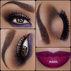 The color match of dramatic eyes and lips are a bit t...