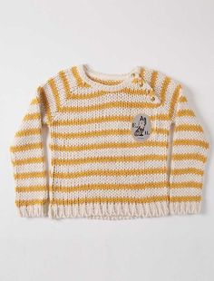 Gebreidde trui streep geel