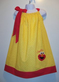 Pillow Case Dress Elmo Birthday Dress 39.00