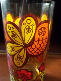 Vintage 1970s Amber Partridge Glass by TheHoneysuckleTree on Etsy, $5.00