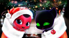 Miraculous Ladybug Kwami Christmas Tikki and Plagg