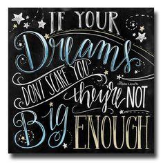 Kreide Kunst Tafel wenn Ihre Träume-Dont von TheWhiteLime auf Etsy