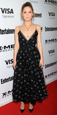 Rose Byrne in a star-print Valentino gown.