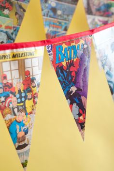 one charming party - super hero party banner #diy