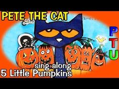 PETE the CAT Five Little Pumpkins Book   SCHOOL SHOES reading out loud story sing along - YouTube