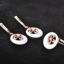 MECHOSEN Bridal Jewelry Sets Ceramic Earrings&Rings Cubic Zirconia Ring Rose Gold Klee Princess Brinco Schmuck Set With Gift Box www.bernysjewels.com #bernysjewels #jewels #jewelry #nice #bags