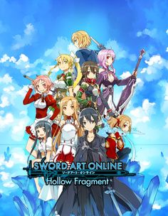 View an image titled 'Characters Poster Art' in our Sword Art Online: Hollow Fragment art gallery featuring official character designs, concept art, and promo pictures. Sword Art Online Poster, Sword Art Online Wallpaper, Arte Online, Online Art, Kirito Asuna, Kirito Kirigaya, Sword Art Online Hollow, Character Art, Character Design