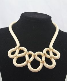 INSPIRATION ~ {with crocheted tubes}...........statement woven necklace by TopQuality918: