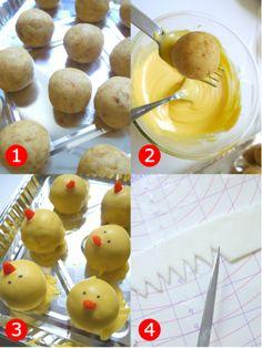 "Bird's Party Blog: Cake it Pretty: DIY ""Hatching Chicks"" Cake Pops TUTORIAL"