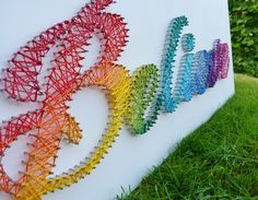 pretty rainbow string art ♥ Rainbow White Color Design Art Food Pretty Beautiful Colorful Fashion ♥ oreos cookies