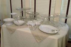Buffet table set up