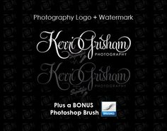 Photography logo Watermark Bonus photoshop by SigntificDesigns Photography Names, Photography Branding, Photography Business, Mail Signature, Signature Logo, Watermark Design, Logo Design, Business Names, Business Logo