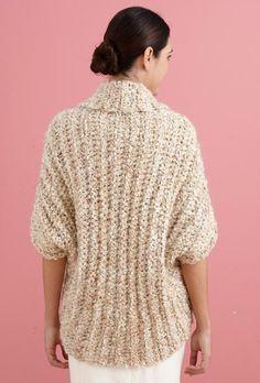 Lion Brand, #crochet, free pattern, shrug, #haken, gratis patroon (Engels), shrug, vest, eenvoudig model (rechthoek) #haakpatroon