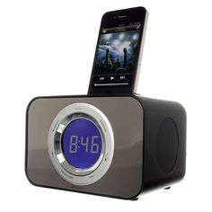 State of the art led dimmable docking station for an iPhone or ipod. It offers a combination of great style with your music through the imode function