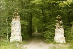 German artist Cornelia Konrads (b.1957) creates mind-bending site specific installations. Columns...lifting or settling? via junkculture