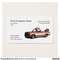 24 Best Auto Towing Transport Wrecker Business Cards images in 2017
