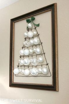 Tree Shaped Christmas Ornament Display