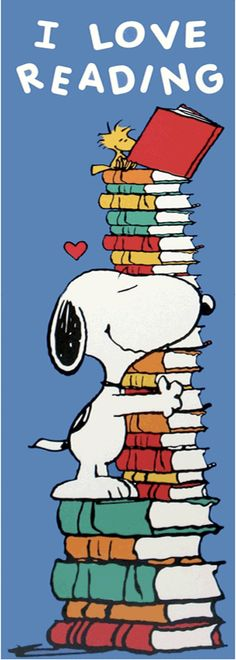I Love Reading #Snoopy #Peanuts