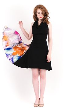 lampblack and iris dress