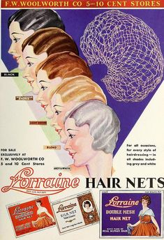 Lorraine Hair Nets, April 1933. A decade too old for the show, but Grandma Kurnitz would wear one in her hair at night.