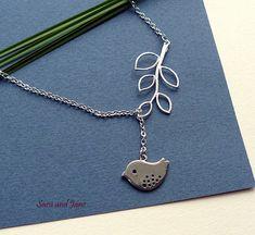 Best Friend Birthday Gift Silver Bird Branch by SaraAndJane, $18.00