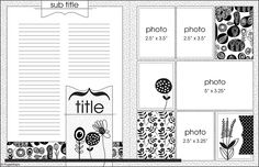**** Double page 4 picture sketch - Example: large space to journal tons of memories Scrapbook Templates, Scrapbook Sketches, Scrapbook Page Layouts, Scrapbook Cards, Sketch 4, Photo Sketch, Sketches Of Love, Page Maps, Sketch Inspiration