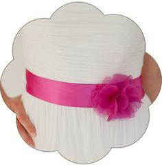 Braut Gürtel mit Seiden Blüte in pink fuchsia. 24 Farben. Wedding Belts, Sashes, Ribbons- Bridal Accessories. Pink fuchsia silk flower