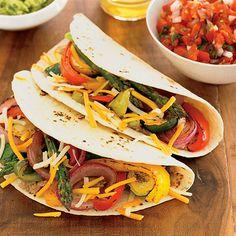 Grilled Vegetable Fajitas - FamilyCircle.com