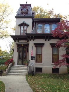 This Victorian Home used to be the home where the president of Butler University lived in days gone by. The home is in  Indianapolis, Indiana and is now rented out for special events.