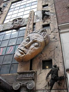 Detail of the facade, Jekyll & Hyde Club, Seventh Avenue at 57th Street, New York