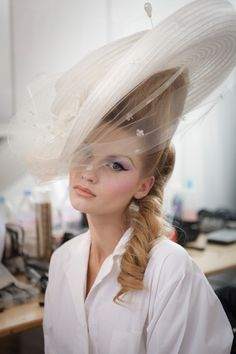 Christian Dior Haute Couture S/S 2010, hat by Stephen Jones Millinery.