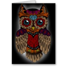 Sugar Skull owl Art Print by Niklas Bates. All prints are professionally printed, packaged, and shipped within 3 - 4 business days. Sugar Skull Owl, Sugar Skull Tattoos, New Tattoos, I Tattoo, Mask Tattoo, Tatoos, Owl Always Love You, Candy Skulls, Owl Print