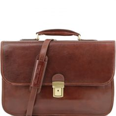 Tuscany Leather Briefcase Folder 2 Compartments Exclusive Made In Italy Business Briefcase, Leather Briefcase, Leather Bag, Ipad Holder, Iphone Holder, Vegetable Tanned Leather, Leather Accessories, Italian Leather, Tuscany
