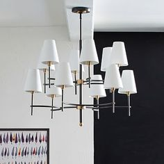 Arc Mid-Century Chandelier - 12-Light #westelm Love this! You can take the shades off too. It would look good over your table.