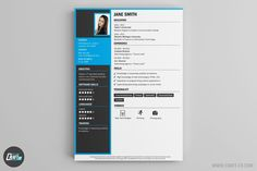 These Resume Templates will surely help you find a job! The Best Resume Builder with creative Resume Samples. Professional Cv Examples, Professional Resume, Resume Examples, Creative Cv Template, Cv Maker, Resume Maker, Simple Cv, Online Cv, Resume Builder