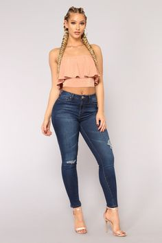 f17e8496be9 No Muffin Top Ankle Jeans - Dark Denim