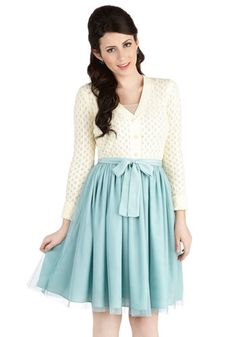 Fanciful of Charm Skirt in Mint