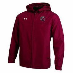 NCAA South Carolina Fighting Gamecocks Men's Contender Full Zip Hooded Jacket, X-Large, Cardinal Under Armour. $44.77