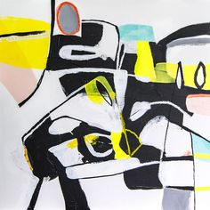 Olaf Boqwist 2017, untitled, 40x40cm, acrylic paint and collage on primed cotton / hardboard panel #abstractart #boqwist #painting #abstractexpressionism