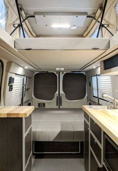 """""""We have plans to do a lot of traveling over the years. All over the US, Canada, and Alaska. Van Conversion Pop Top, Van Conversion Interior, Ford Transit Camper Conversion, Sprinter Van Conversion, Pop Top Camper, Camper Van Life, Caravan Renovation, Van Home, Tiny House Cabin"""