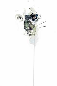 Les portraits intenses d'Agnes-cecile (Silvia Pelissero) ! Abstract Portrait, Watercolor Portraits, Watercolor Art, Abstract Art, Anime Comics, Framed Art Prints, Fine Art Prints, Agnes Cecile, Illustrations
