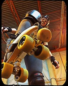Skating with Giants #rollerderby by janna1223